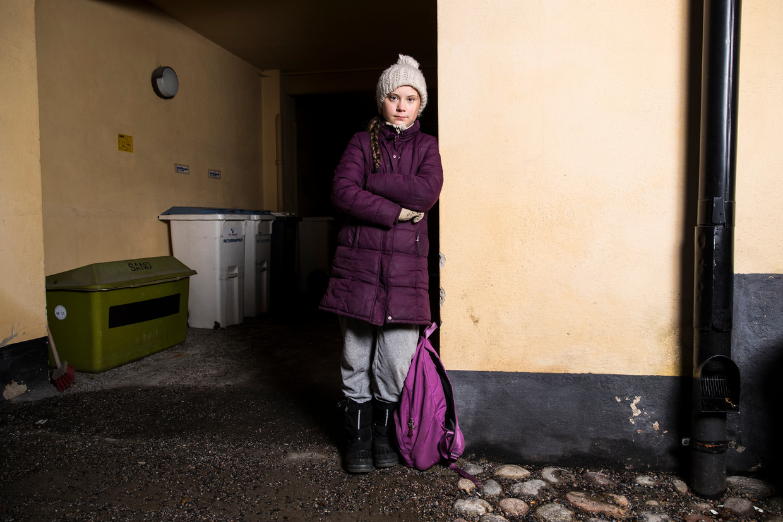 Voor de documentaire I Am Greta werd klimaatactivist Greta Thunberg een jaar lang gevolgd.  Beeld Getty Images