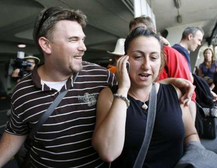 Charlie Wilson en verloofde Marina Scaffidi: doodsangsten uitgestaan.