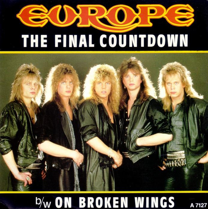 De hoes van de beroemdste single van Europe.