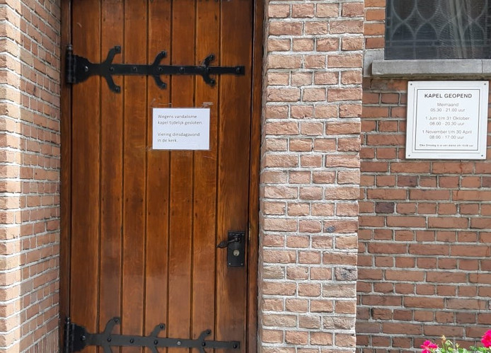 Sinds donderdag is de kapel in Zegge gesloten. Het parochiebestuur deed aangifte bij de politie en op last van de verzekering is de kapel dicht.
