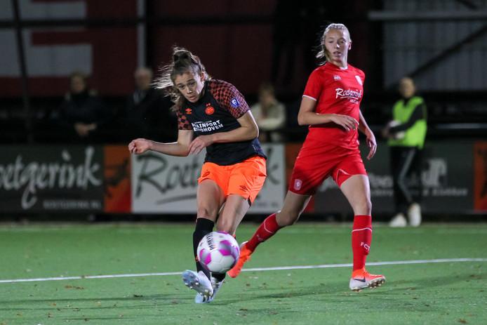 PSV-spits Joëlle Smits scoorde dit seizoen al twaalf keer in de Eredivisie Vrouwen.