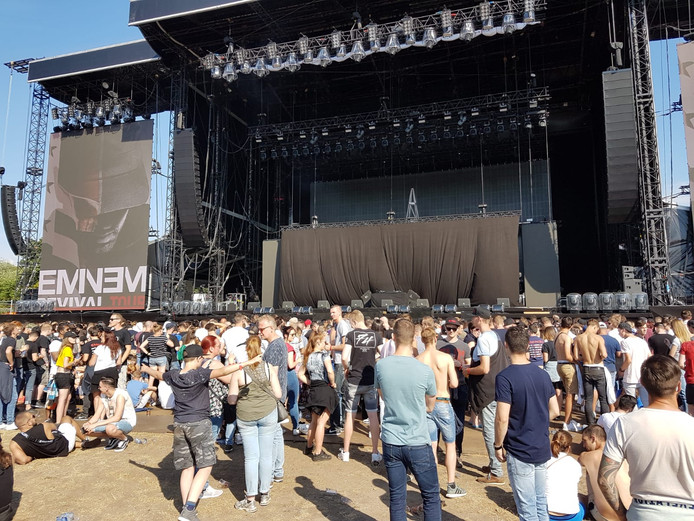 Eminem treedt vanavond op in het Goffertpark in Nijmegen.