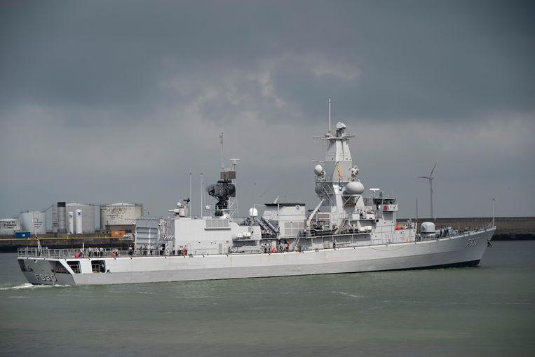 Het fregat Leopold I ligt aangemeerd in Zeebrugge. Een van de mariniers maakte het nogal bont in Oostende, dinsdagnacht en woensdagmorgen.