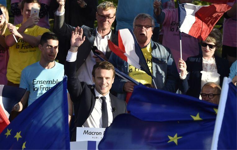 Zelfs president Macron luistert naar de analyses van DSK. 'Ze hebben elkaar minstens twee keer ontmoet.' Beeld