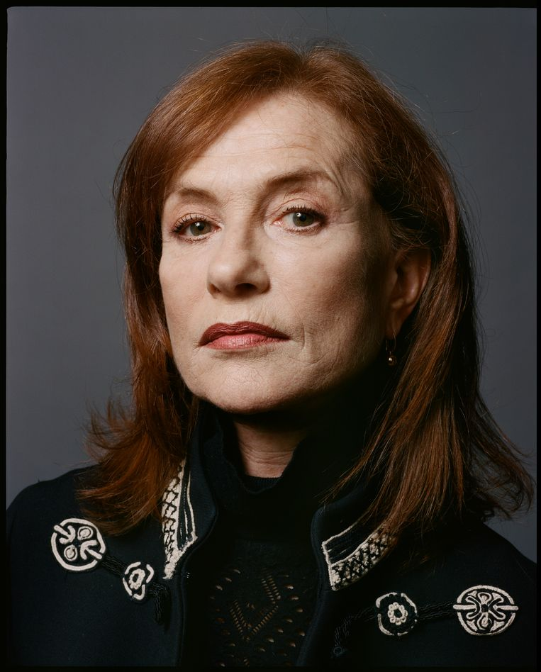 Actrice Isabelle Huppert. Beeld null