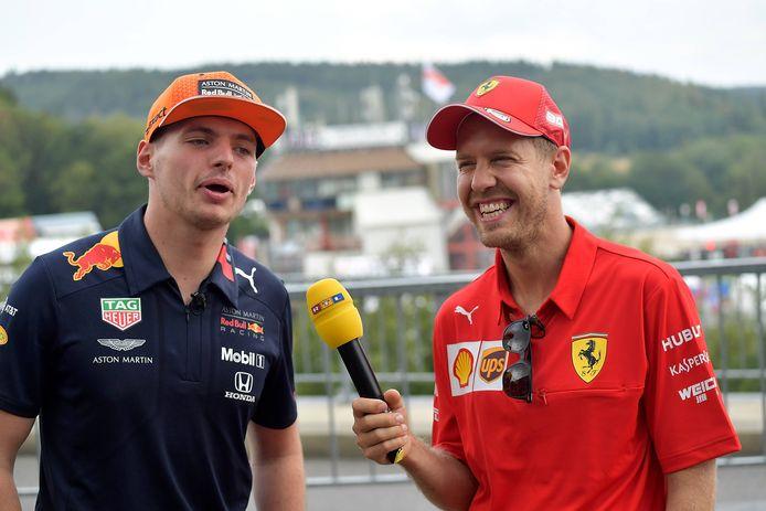 Max Verstappen en Sebastian Vettel.