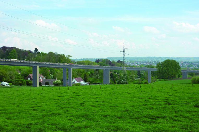 De doortrekking van de N60 als simulatiebeeld: actiecomité 'Geen streep door Ronse' tekent nog steeds fel protest aan tegen het 500 meter lange viaduct in hun wijk.
