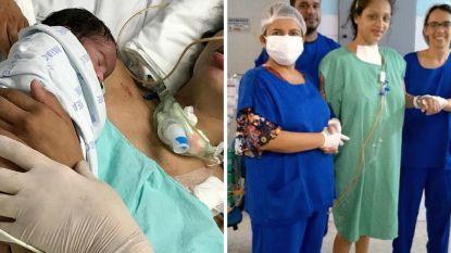 Amanda ligt wekenlang in coma. Ze ontwaakt meteen wanneer ze haar baby tegen zich aangedrukt krijgt