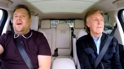 Paul McCartney brengt James Corden aan het huilen tijdens carpool karaoke