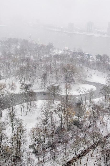Winterse buien trekken over de regio