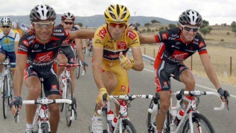 Valverde kan de eindzege in de Vuelta niet meer ontgaan. Foto ANP Beeld