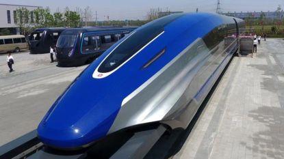 China presenteert magneetzweeftrein die 600 km per uur gaat