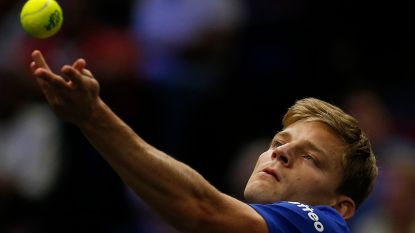 Goffin onderuit in dubbelmatch Rod Laver Cup
