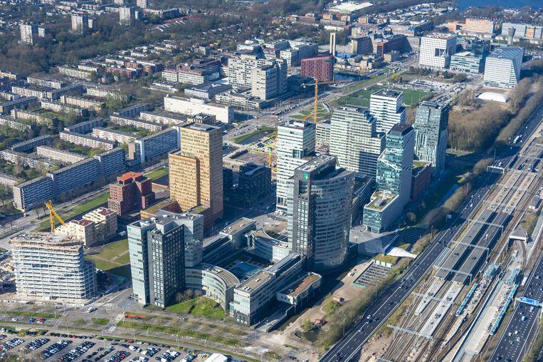 De 'Amsterdamse' wapenbedrijven zijn vooral gevestigd bij trustkantoren op de Zuidas. Beeld anp