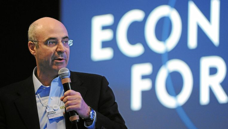 Bill Browder op het World Economic Forum from Cologny Beeld null