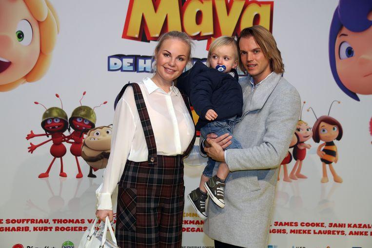Lesley Ann Poppe met haar partner Kevin en hun zoon Gabriel.