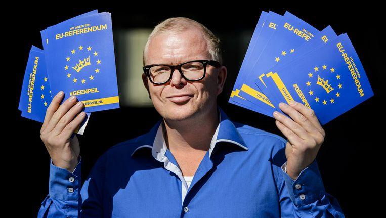 Jan Roos van het actiecomité GeenPeil. Beeld anp