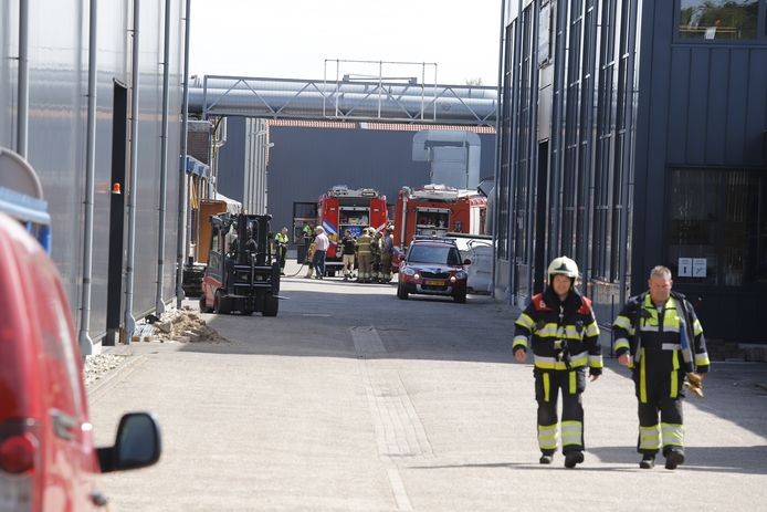 De brandweer rukte maandagochtend massaal uit voor een brand bij Panel Mill in Mill.