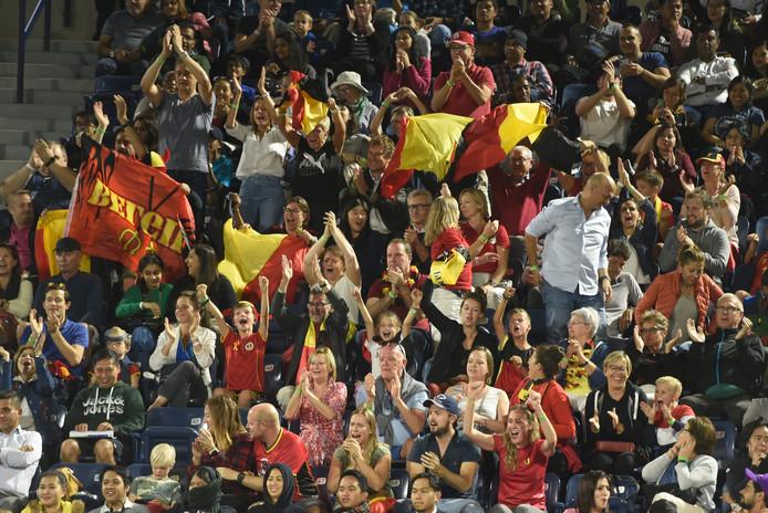 Les supporters belges étaient présents en nombre dans les gradins.