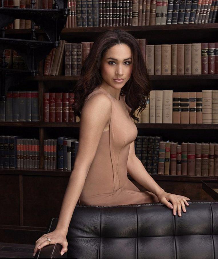 Meghan in de Amerikaanse hitserie 'Suits'.