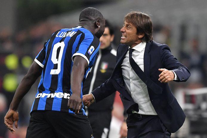 Romelu Lukaku et Antonio Conte