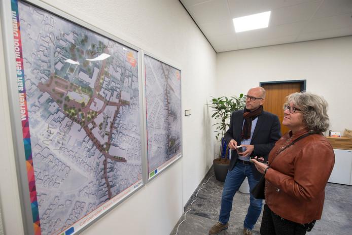De plannen voor de herinrichting van het centrum van Didam zijn in het informatiecentrum in het oude stadhuis te bekijken.