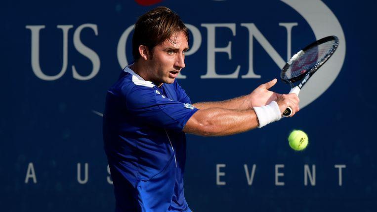Niels Desein aan het werk op de US Open in New York.
