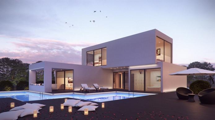 Een modulair gebouwd huis zoals Andy Pieloor dat in de 'slimme wijk' in Helmond wil neerzetten.