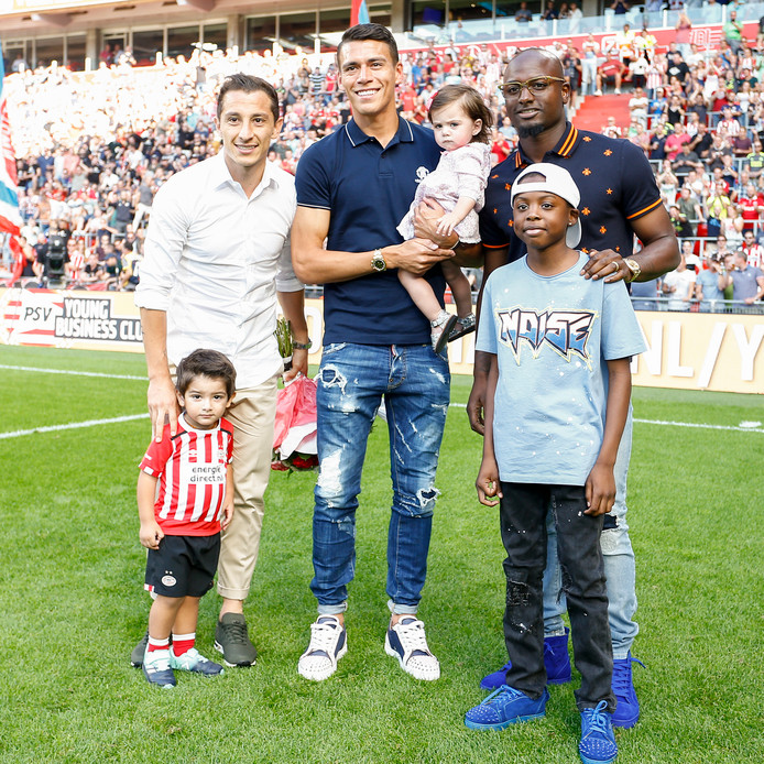Andrés Guardado, Héctor Moreno en Jetro Willems verlieten deze zomer PSV.