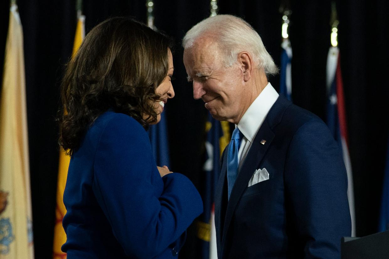 Presidentskandidaat Joe Biden en running mate Kamala Harris. Beeld AP