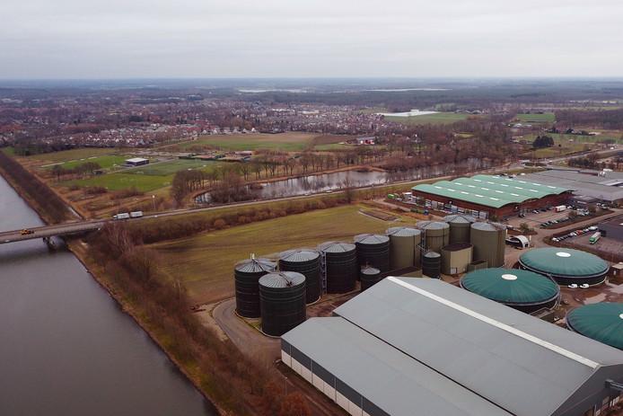De mestfabriek van Den Ouden in Helmond.