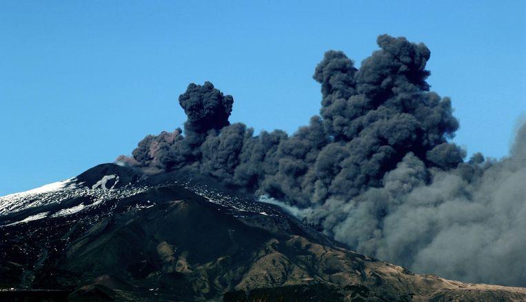 De Etna barstte eergisteren uit.