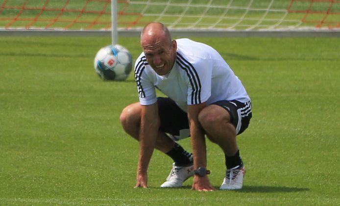 Robben hield dit seizoen zijn conditie op peil bij Bayern München.