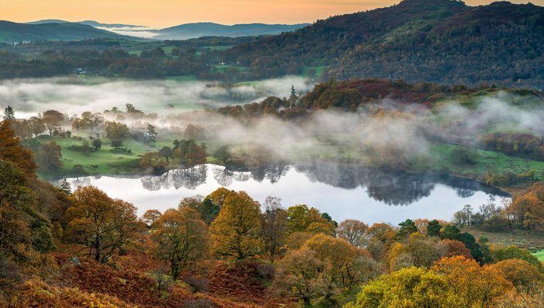 Het Lake District waar Beatrix Potter zich door liet inspireren. Beeld Getty Images