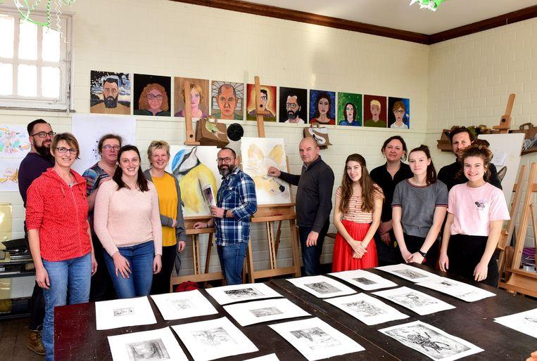Enkele deelnemers van de Academie tijdens een vorige opendeurdag begin dit jaar