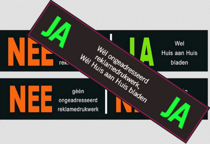 Een ja/ja-sticker