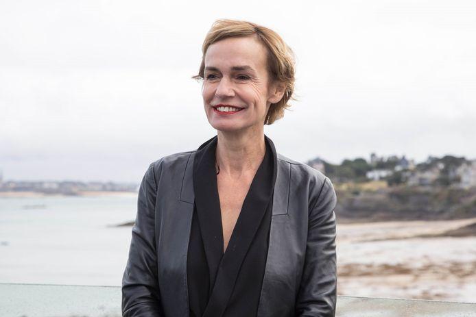 Sandrine Bonnaire, présidente du jury au 30ème Festival du Film de Dinard, le 26 septembre 2019. © Jéremy Melloul / Bestimage