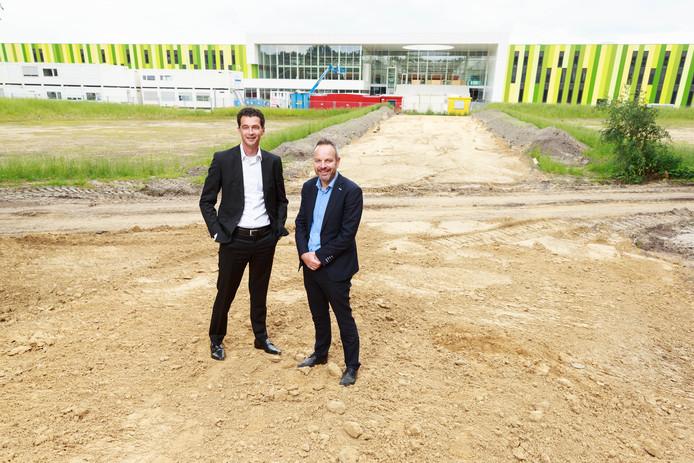 Ferdinand Gremmen  van SDK Vastgoed (links) en Bert-Jan Woertman. Foto: Bram Saeys