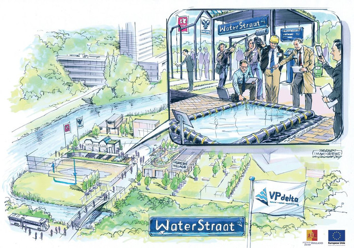 Artist impression Waterstraat