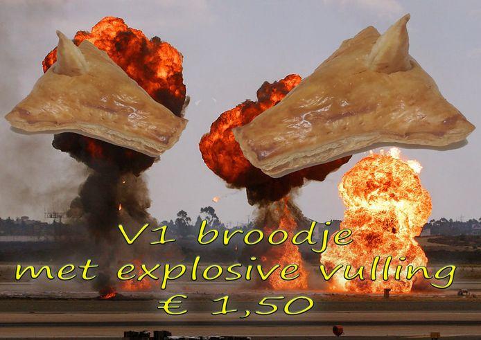 De Wilpse Bakker Wil Gerrits verkoopt alleen dit weekeinde explosieve V1-broodjes.