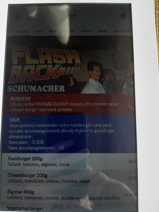 De Schumacher-burger.