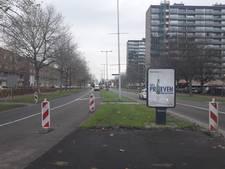 Utrechtse Eykmanlaan medio 2018 op de schop