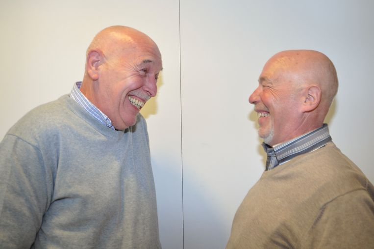 Marc Van Ooteghem uit Knokke (links) en Eric Landuyt uit Meulebeke, tijdens hun allereerste ontmoeting.