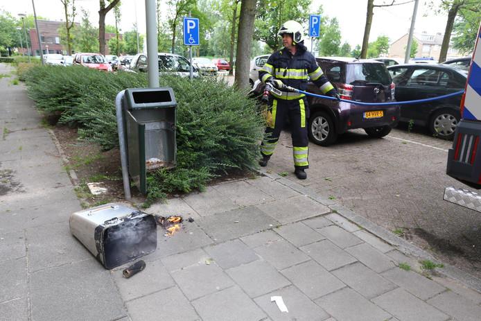 De brandweer rukte uit om het brandje te blussen.
