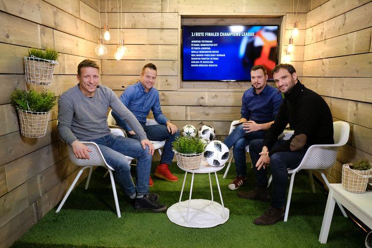 Van l naar r: Wesley Sonck, Gilles De Bilde, Nicolas De Brabander en Stephan Keygnaert.