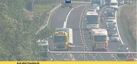 Ongeval met vrachtwagens op A16: file richting Rotterdam vanuit West-Brabant
