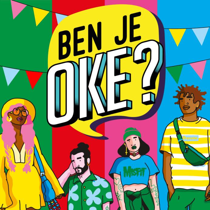 Afbeelding van de publiekscampagne 'Ben je oké?'.
