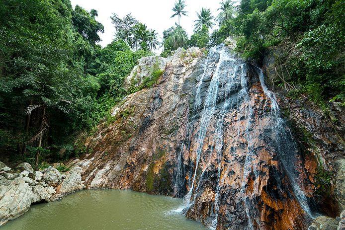 De 26-jarige man uit Barcelona was met zeven vrienden aan het wandelen aan de watervallen van Na Mueang.