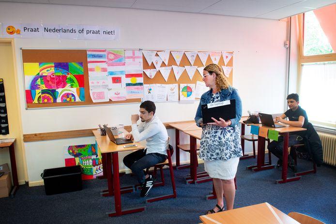 Nijmegen/Nederland: Het Pontem College, docente Miriam van der Duyn Dgfoto Foto: Bert Beelen