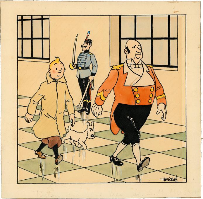 """Archive d'illustration (""""Le Sceptre d'Ottokar"""")"""